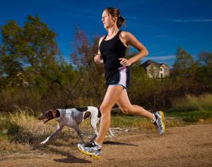 Dog running, austin
