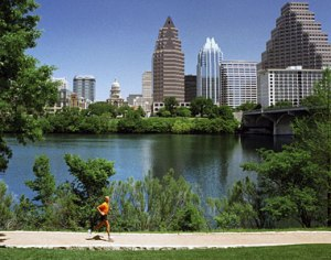 Lady Bird Lake, Austin, dog walks